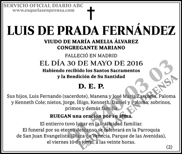 Luis de Prada Fernández